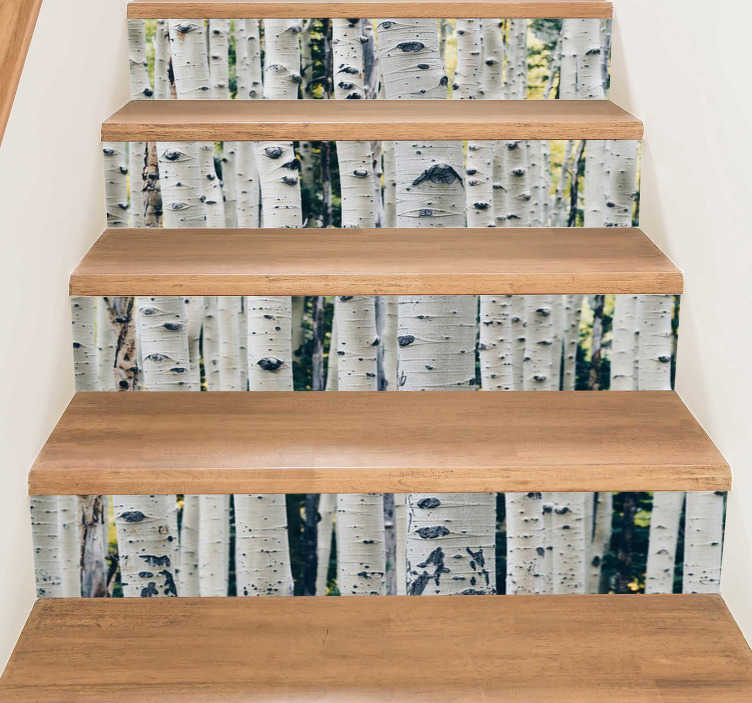 tree stickers on stairs