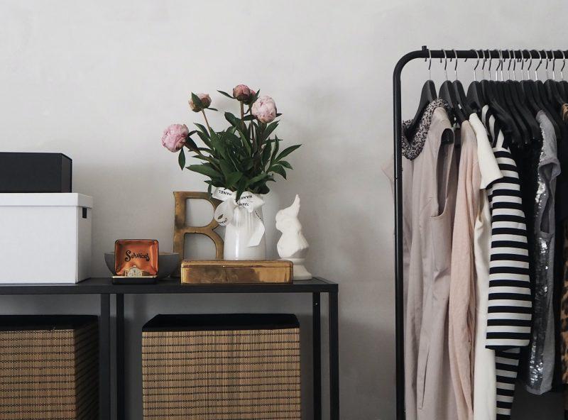 A Bedoom Design Around a Black Bed