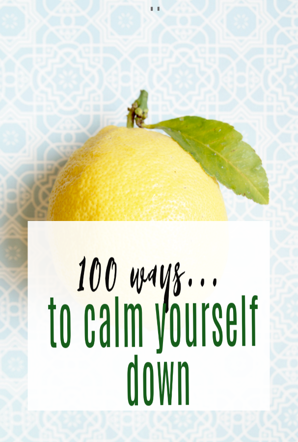 how to calm down, simple ways to calm down