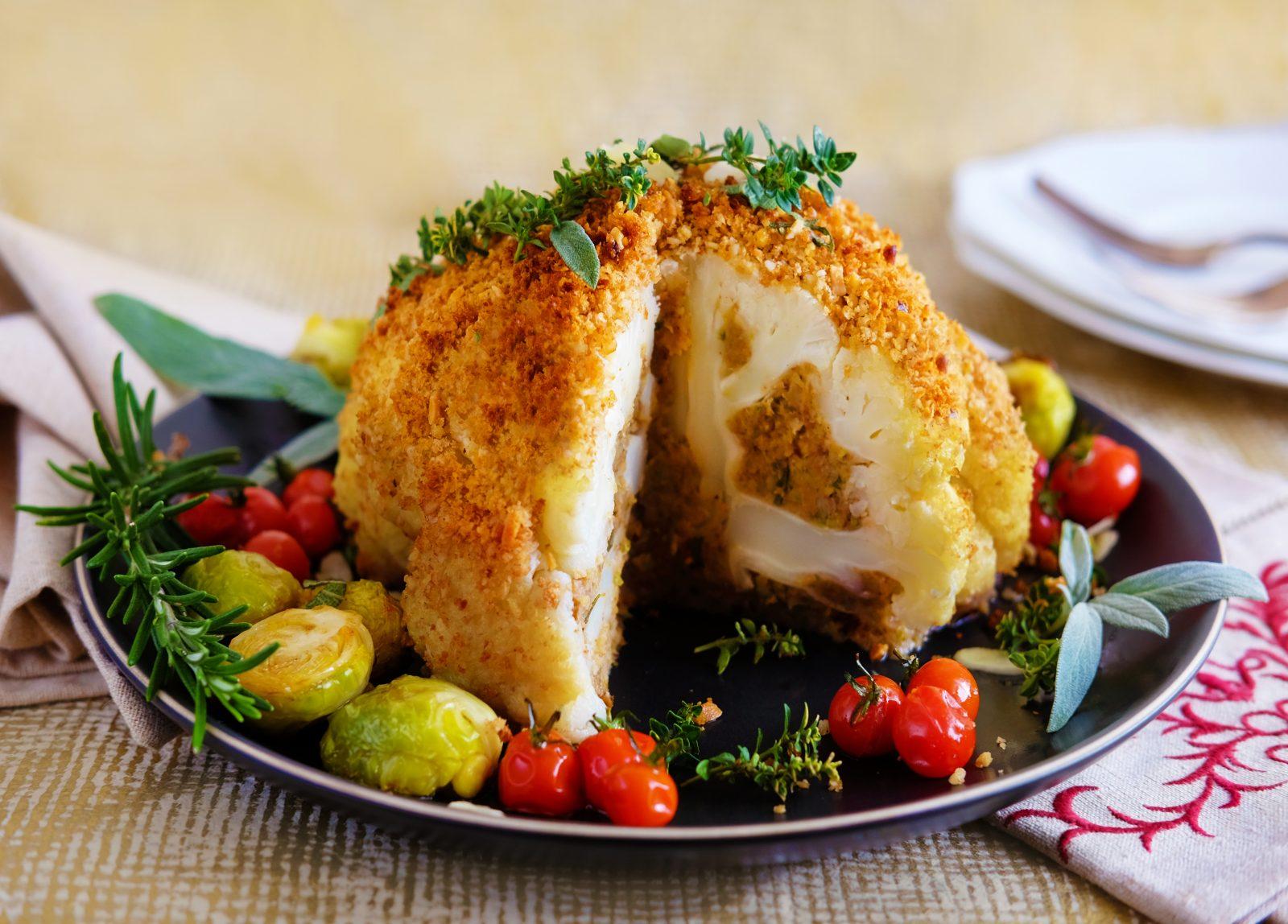 Vegan Stuffed Cauliflower