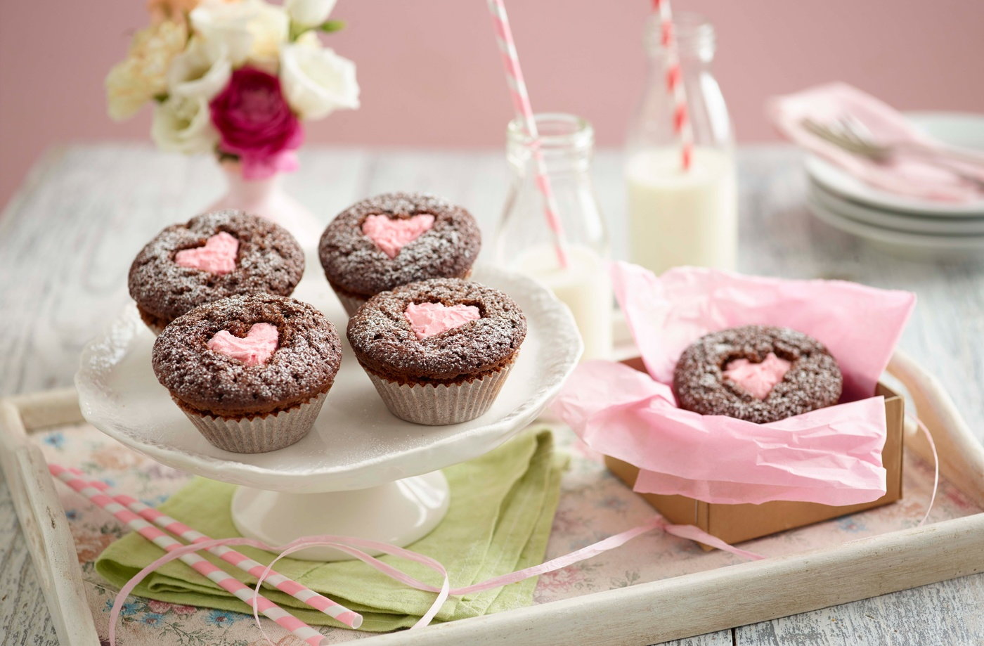 Cupcakes with Hearts