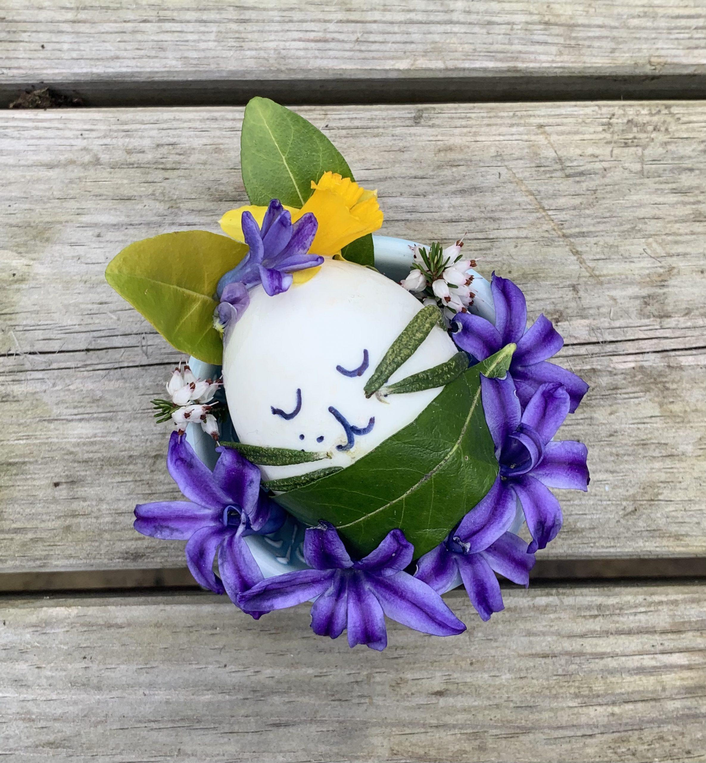 easter nature craft, nature egg craft