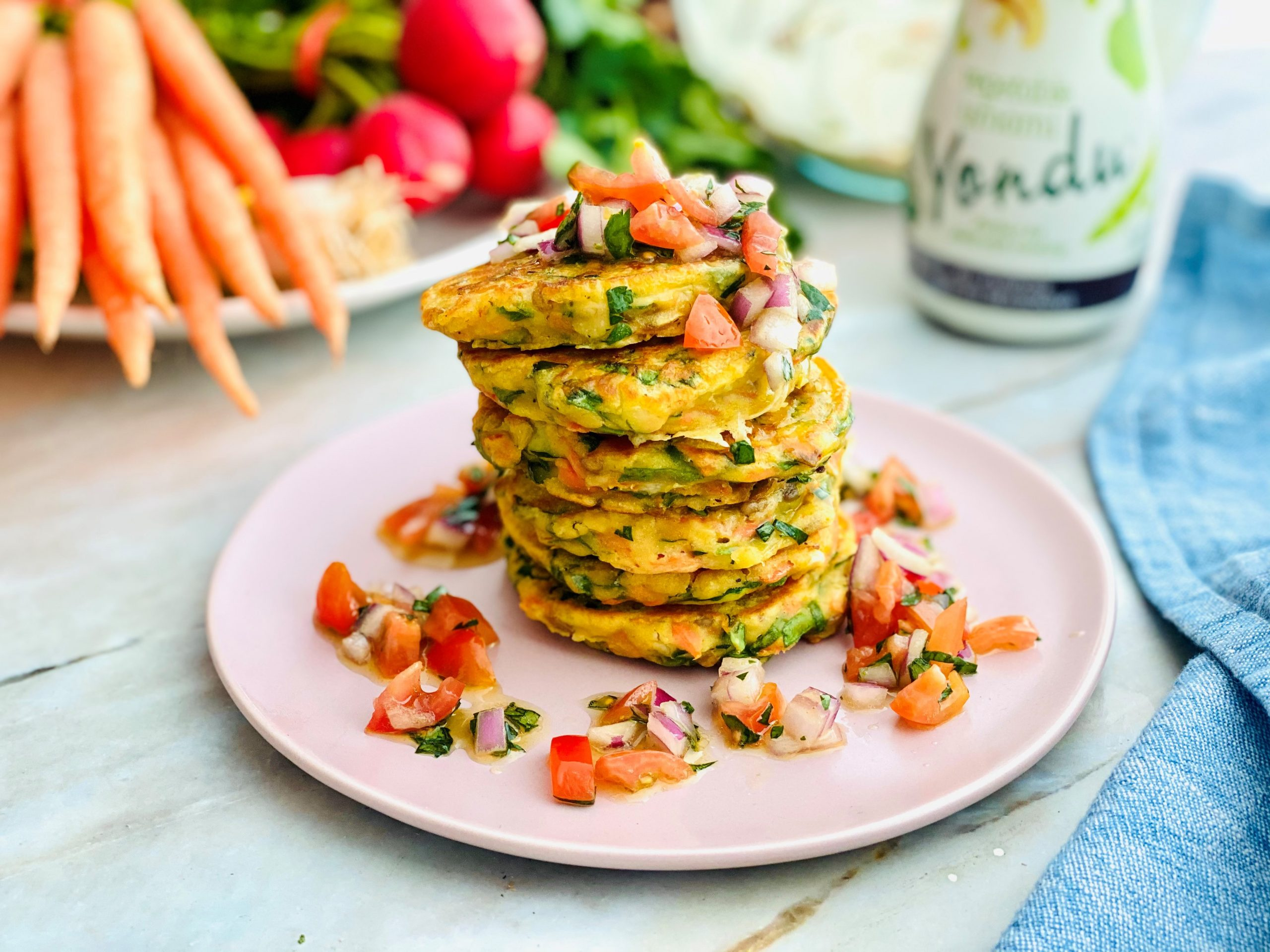 Spinach & Carrot Pancakes